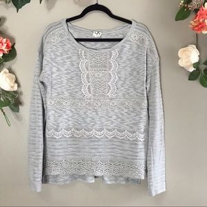 Anthro one September lace knit sweater